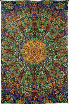Limited Edition Psychedelic Sunburst Tapestry Gold & Green 60 x 90 wall hanging by BostonHolistics Mandala Wallpaper, Hippie Wallpaper, Graphic Wallpaper, Cute Wallpaper Backgrounds, Cute Wallpapers, Psychedelic Art, Mandala Art, Zen Pictures, Circle Art