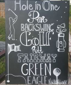 Handmade, Original Golf Art on Canvas Chalkboard. This is NOT A PRINT. This piece of Art comes ready to hang! by ETCreations2014 on Etsy
