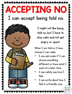 Social Skills Lesson: Accepting No Social Skills Lesson: Accepting No,Social stories Related posts:Teaching Conflict Resolution Skills in 6 Easy Steps - Social Emotional Workshop - EducationKindergarten Listening Skills Lesson - Best Emotional Skills. Social Skills Lessons, Teaching Social Skills, Social Emotional Learning, Student Teaching, Coping Skills, Teaching Kids Respect, Teaching Kindness, Social Skills For Kids, Teaching Reading