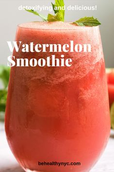 best way to refresh a hot Summer day is with a watermelon mint smoothie. So delicious and good for you.The perfect drink for the whole family. Watermelon Smoothies, Healthy Smoothies, Smoothie Recipes, Drink Recipes, Green Smoothies, Juice Recipes, Healthy Drinks, Healthy Food, Recipes