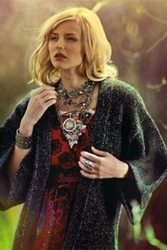 Turquoise & Labradorite Wrap with Pewter as featured in Aspen Sojourner Magazine