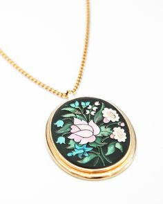 Stamped Flower Pendant - JewelMint