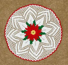 Poinsettia Christmas Doily