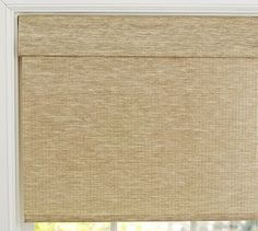 for your powder room & one kitchen window at garage ;)  Natural Fiber Cordless Roman Shade #potterybarn