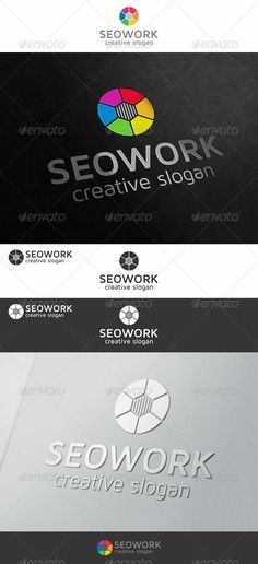 SEO Work Logo - Is a simple, clean and bright logo, suitable to any kind of companies and agencies. Is a multipurpose logo. This logo that can be used by SEO business, marketing business, analytics company, app developers, mobile apps, communication brand, high tech business company, solution companies, agency, design studio, media business, Online activities, technology related industry, personal logo, website logo, etc.