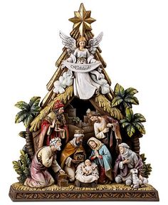 Napco Angel Nativity Scene - Christmas Decorations - For The Home - Macy's