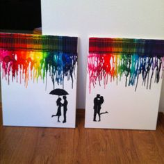 Latest art project! Crayon Art done correctly!