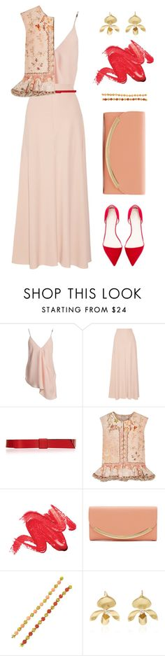 """""""Spring Jacket"""" by dominosfalldown ❤ liked on Polyvore featuring Sans Souci, The Row, Marni, Etro, See by Chloé, Annette Ferdinandsen, Spring, coral, blush and wardrobebasics"""