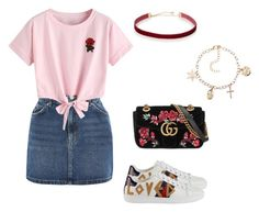 """day out look #6"" by kiwiid on Polyvore featuring Topshop, WithChic and Gucci"