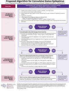 American Epilepsy Society issues guideline and treatment algorithm for convulsive status epilepticus Seizures In Children, Status Epilepticus, Epilepsy Awareness, Mortality Rate, Emergency Department, Study Hard, Pharmacology, Nurse Life, Teaching Kids