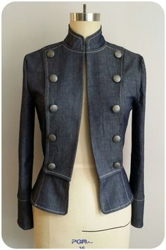 Vogue 8301 Military-style Jacket by Erica Bunker Diy Fashion No Sew, Fashion Sewing, Couture Mode, Couture Fashion, Nerd Mode, Estilo Lolita, Blazers, Nerd Fashion, Punk Fashion