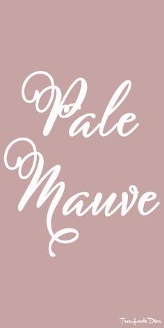 #Pantone Pale #Mauve ♔ Très Haute Diva