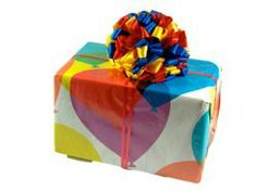TagBalls on gift boxes -a bow they'll never forget!