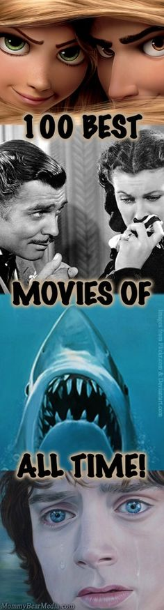 List of the Top 100 Best Movies of all Time - Classics, musicals, Disney, and more! Get some ideas for good movies to watch during a relaxing night at home.