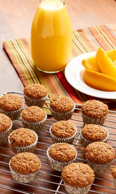 These adorable mini banana bran muffins are just 150 calories per serving!
