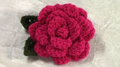 Crochet Flower/Leaf Tutorial, DIY. It's Fun and easy! Flowers to crochet- It's Endless Possibilities of Use. You can attach to the flower to whatever you wan...
