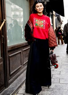 Best Paris Fashion Week Street Style Fall 17 | StyleCaster - love the wide leg pant