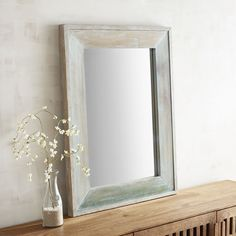 Oisin Ombre Wood Framed 30x40 Mirror | Pier 1 Imports