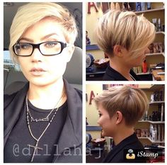 Short hair blonde undercut shaved