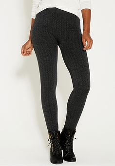 ANOTHER WANT - fleece lined legging in textured charcoal fabric (original price, $20) available at #Maurices