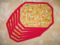 Quilted Placemat  12 Days of Christmas  Reversible by QuiltinWaYnE, $62.50