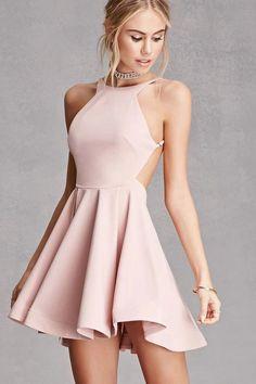Homecoming Dress,Halter Mini Dress,High Quality