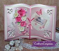 This Gemini Elements Metal Die - Storybook is perfect to add that extra something to your papercrafting projects. Buy now from Crafter's Companion. Crafters Companion Gemini, Card Book, Shaped Cards, Fancy Fold Cards, Easel Cards, Scrapbook Paper Crafts, Scrapbooking, Pretty Cards, Greeting Cards Handmade