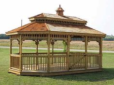 12'x20' Oblong Gazebo with Double Roof,
