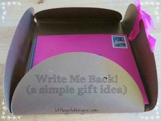 One of my favorite gift ideas of all time--Write Me Back cards. Everybody loves real mail! Read more at {littlegirldesigns.com}