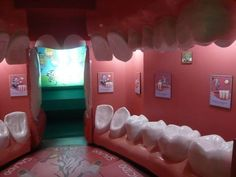 Work at a dental office. Absolutely amazing concept. I'm thinking this room needs a giant toothbrush!