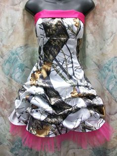 'Bobbi Ann' Custom CAMO Prom Homecoming Pick Up Bubble Skirt Short Dress Tulle