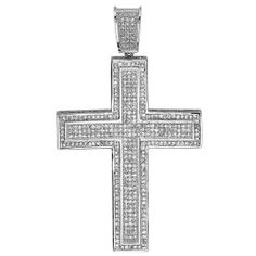 Platinum Plated CZ Cubic Zirconia Hip Hop Men's Religious Cross Pendant (2.25 Inch Width, 3.75 Inch Length)FREE CHAIN INCLUDED DazzlingRock Collection. $39.00. It is a trendy accessory and makes a perfect gift for any occasion.. This pendant is iced out. Cubic Zirconia Color / Clarity : White / Clean. Get the most bang for your buck. This is a unique Hip Hop Style pendant.. Save 72% Off!