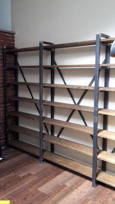 Regal Industrial Loft Design Bücherregal Industrie Fabrik in Möbel & Wohnen, Möbel, Regale & Aufbewahrung | eBay
