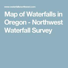 Map of Waterfalls in Oregon - Northwest Waterfall Survey