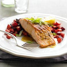 Our Peppered Salmon with Roasted Root Vegetables takes only 30 minutes from start-to-finish. More easy seafood recipes: https://www.bhg.com/recipes/fish/30-minutes-less/20-quick-easy-seafood-recipes