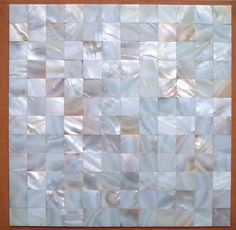 Mother Of Pearl Mosaic Tiles River Bed Nature Pearl Shell Mosaic Diamond  White