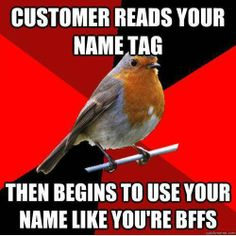Retail Robin.  Just today, as a matter of fact.