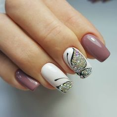 and Beautiful Nail Art Designs Beautiful Nail Designs, Beautiful Nail Art, Gorgeous Nails, Diy Nails, Cute Nails, Butterfly Nail Art, Nagellack Trends, Luxury Nails, Nagel Gel