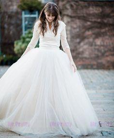 Big Sale Ivory Ball Gown Long Tulle Skirts Women Maxi Wedding Skirts Full Length #Handmade #Maxi
