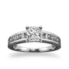 Prong Set Side Stone Ring