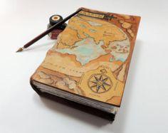 Large Leather Art Journal, Custom Sketchbook, Complex Design