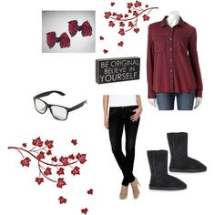 Emo: Colored Denim Colored denim is newer trend in shirts that is becoming popular lately. Emo girls can rock this trend the right way with this outfit.  Blog link: http://unseensideofthescene.blogspot.com/2013/11/emo-colored-denim.html?m=1 #colors #denim #trends #emo #red #style #fashion #Sherpa #bows fashion #blog #bloggers #usots #altgirlsofcolour #unseensideofthescene