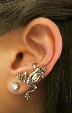 Bronze Frog Ear Cuff by martymagic on Etsy, $29.00