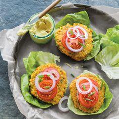 Carrot-Farro Burgers