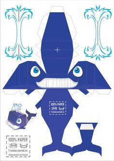 Blue whale: free printable: