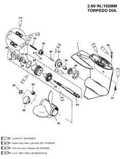 Exploded View Lower Gear Housing Marine Parts House