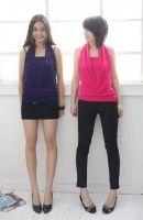 Fashion Crystal Embellished Blouse Purple