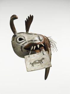 masque yupik © musée du quai Branly, photo Thierry Ollivier, Michel Urtado. Acquis grâce au soutien de la société des Amis du musée du quai Branly