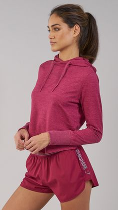Feel the Beet. The Gymshark Cross Back Hoodie is where fashion meets function in perfect harmony. Coming soon in Beet. #gymshark