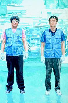 뉴스 그리기acrylic on canvas163X 112 2013